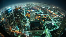 Panoramica di lasso di tempo di Los Angeles alla notte - 4K - 4096x2304 archivi video