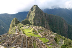 Panoramica di Machu Picchu fotografia stock libera da diritti
