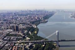 Panoramica di Manhattan - di New York Fotografia Stock Libera da Diritti