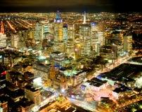 Panoramica di Melbourne Immagini Stock