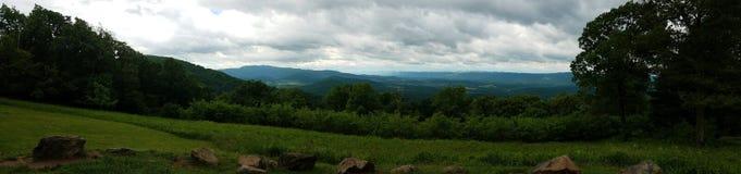 Panoramica di panorama di Shenandoah Valley Fotografia Stock Libera da Diritti