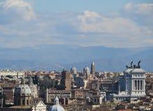 Panoramica di Roma Immagini Stock