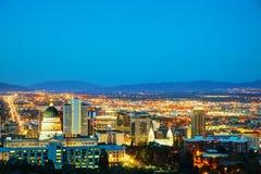Panoramica di Salt Lake City immagini stock