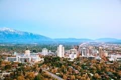 Panoramica di Salt Lake City Fotografia Stock