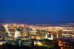 Panoramica di Salt Lake City Fotografia Stock Libera da Diritti