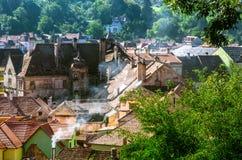Panoramica di Sighisoara Fotografia Stock