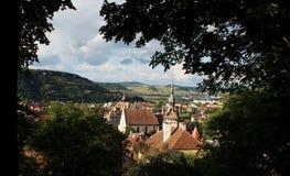 Panoramica di Sighisoara Fotografie Stock