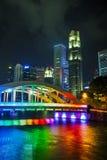 Panoramica di Singapore con il ponte di Alkaff Immagine Stock Libera da Diritti