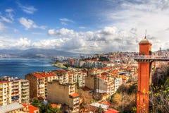 Panoramica di Smirne da Asansor Fotografia Stock Libera da Diritti