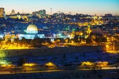 Panoramica di vecchia città a Gerusalemme, Israele Immagini Stock