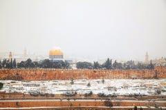 Panoramica di vecchia città a Gerusalemme, Israele Fotografia Stock Libera da Diritti