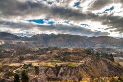 Panoramica di vista del canyon di Colca Fotografia Stock Libera da Diritti