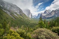 Panoramica di Yosemite Immagini Stock