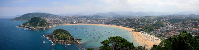 Panoramica Donostia Imagen de archivo