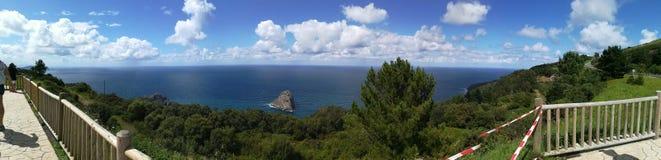 Panoramica Gaztelugatxe στοκ φωτογραφίες με δικαίωμα ελεύθερης χρήσης