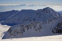 Panoramica occidentale di Tatras Fotografie Stock Libere da Diritti