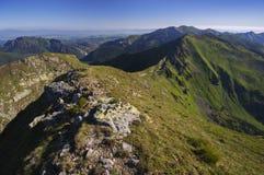 Panoramica occidentale di Tatras Fotografia Stock Libera da Diritti