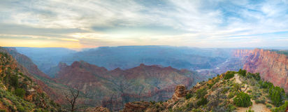 Panoramica panoramica scenica di Grand Canyon Fotografie Stock