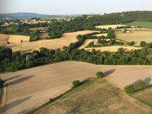 Panoramica 'a Pierrerue', Alpes-De-Haute-Provence Immagini Stock