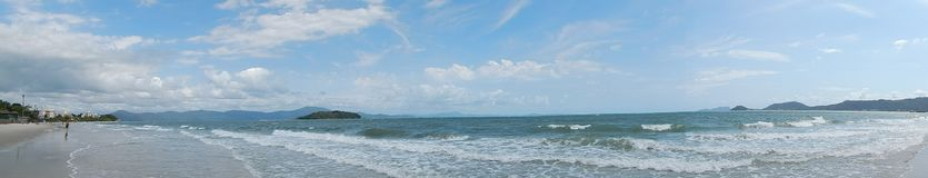 Panoramica plaża obrazy royalty free