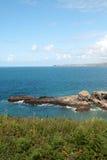 Panoramica in porto Isaac Fotografia Stock