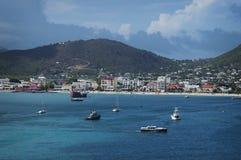 Panoramica splendida di StThomas, VI Fotografia Stock Libera da Diritti