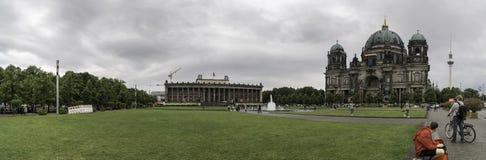 Panoramica van Berlin Cathedral Stock Fotografie
