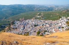 Panoramica Zuheros, rdoba del ³ di CÃ Immagini Stock