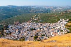 Panoramica Zuheros, rdoba del ³ di CÃ Immagini Stock Libere da Diritti
