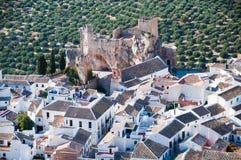 Panoramica Zuheros, rdoba del ³ di CÃ fotografia stock