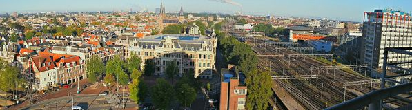 Panoramically view of Amsterdam Royalty Free Stock Image
