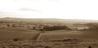 Panoramico antiquato dell'Inghilterra rurale Fotografia Stock Libera da Diritti