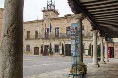 Panoramico del quadrato principale della città di Almagro Immagini Stock