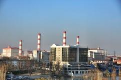 Panoramico della città di Krasnodar, paesaggio urbano Immagine Stock