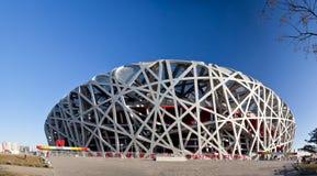 Panoramico dello stadio del cittadino di Pechino fotografie stock libere da diritti