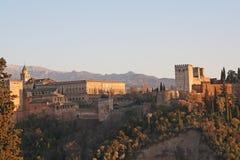 Panoramico di Alhambra. fotografia stock libera da diritti