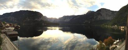 Panoramico di Hallstatt Immagini Stock