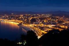 Panoramico di San Sebastian Fotografia Stock