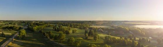 Panoramico leggero di mattina Fotografie Stock Libere da Diritti