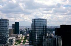 Panoramics moderne de Paris photographie stock libre de droits