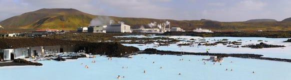 panoramiczna błękitny laguna Obraz Royalty Free