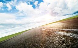 Panoramiczna drogowa wsch?d s?o?ca lata podr?? zdjęcie stock