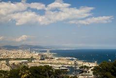 Panoramiczna fotografia Barcelona Zdjęcia Stock