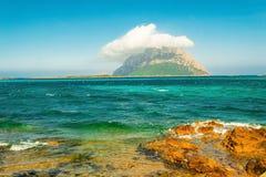 Panoramiczna fotografia w Sardinia Obraz Stock