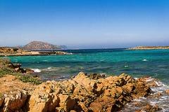 Panoramiczna fotografia w Sardinia Fotografia Stock