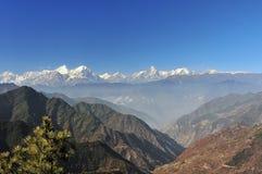 Panoramiczna góra Gongga fotografia stock