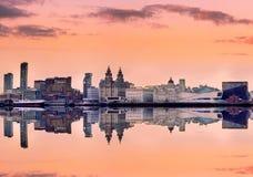 Panoramiczna linia horyzontu Liverpool UK Zdjęcia Stock