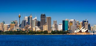Panoramiczna linia horyzontu Sydney cbd Obrazy Royalty Free
