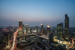 Panoramiczna linia horyzontu Szanghaj Fotografia Stock