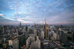 Panoramiczna linia horyzontu Szanghaj Obrazy Stock